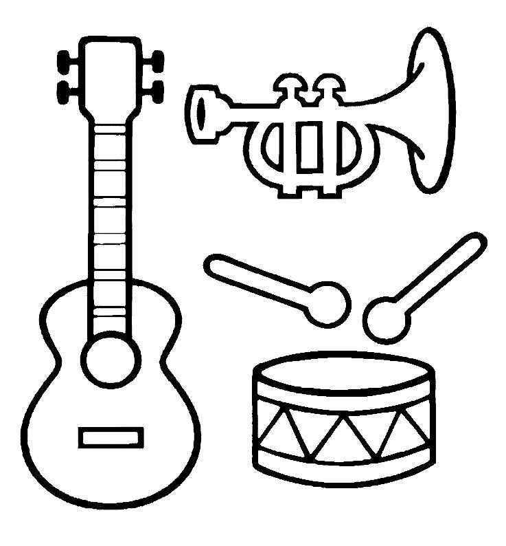 Kleurplaat Muziekinstrumenten Muziek Muziekactiviteiten Muziek Werkbladen