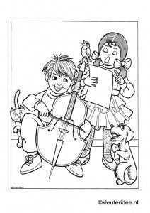 Muziekinstrumenten Muziek Muziekinstrumenten Kleurplaten