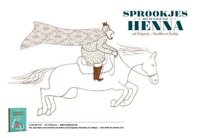 Kleurplaat Uit Sprookjes Met De Kleur Van Henna Sprookjes Henna Kleuren