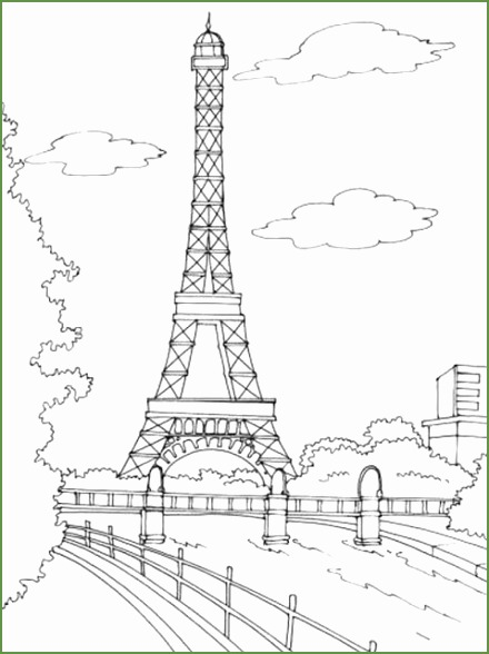 Paris Eiffel Tower Embroidery Pattern Cute For A Throw Pillow 440588 Parijs Tekening Eiffeltoren Kleurplaten