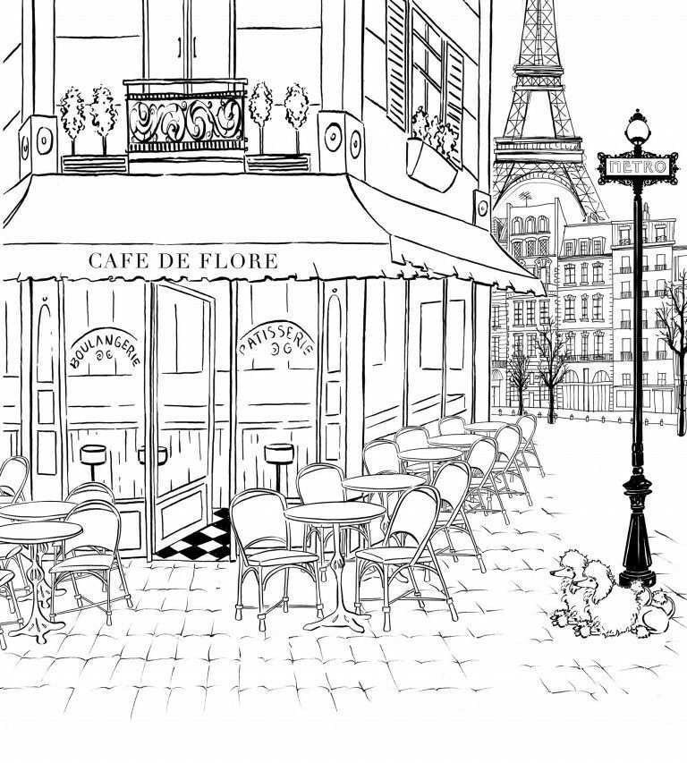 Marie Rose Dehoorne Adli Kullanicinin Chic Illustration Panosundaki Pin Boyama Sayfalari Boyama Kitaplari Mimari Cizim Taslaklari