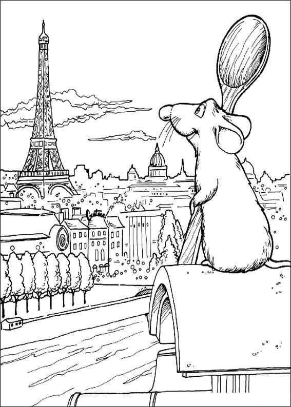 Remy Kijkt Over Parijs Kleurplaat Dieren Kleurplaten Parijs Tekening Prinses Kleurplaatjes