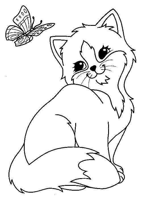 Kids N Fun Kleurplaat Poezen En Katten Poezen En Katten Dieren Kleurplaten Kleurplaten Voor Kinderen Kattenfeestje