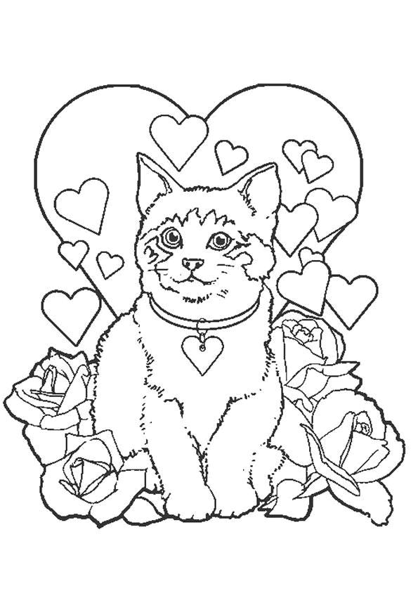 Kleurplaat Poesjes 5904 Valentines Day Coloring Page Valentine Coloring Pages Valentine Coloring