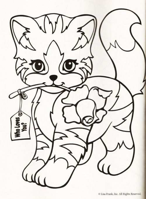 Kleurplaat Poes Roos Cat Coloring Page Coloring Pages Coloring Books