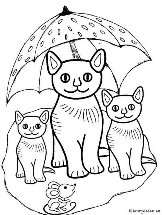 Afbeeldingsresultaat Voor Tekeningen Poezen Cat Coloring Page Kittens Coloring Cat Colors