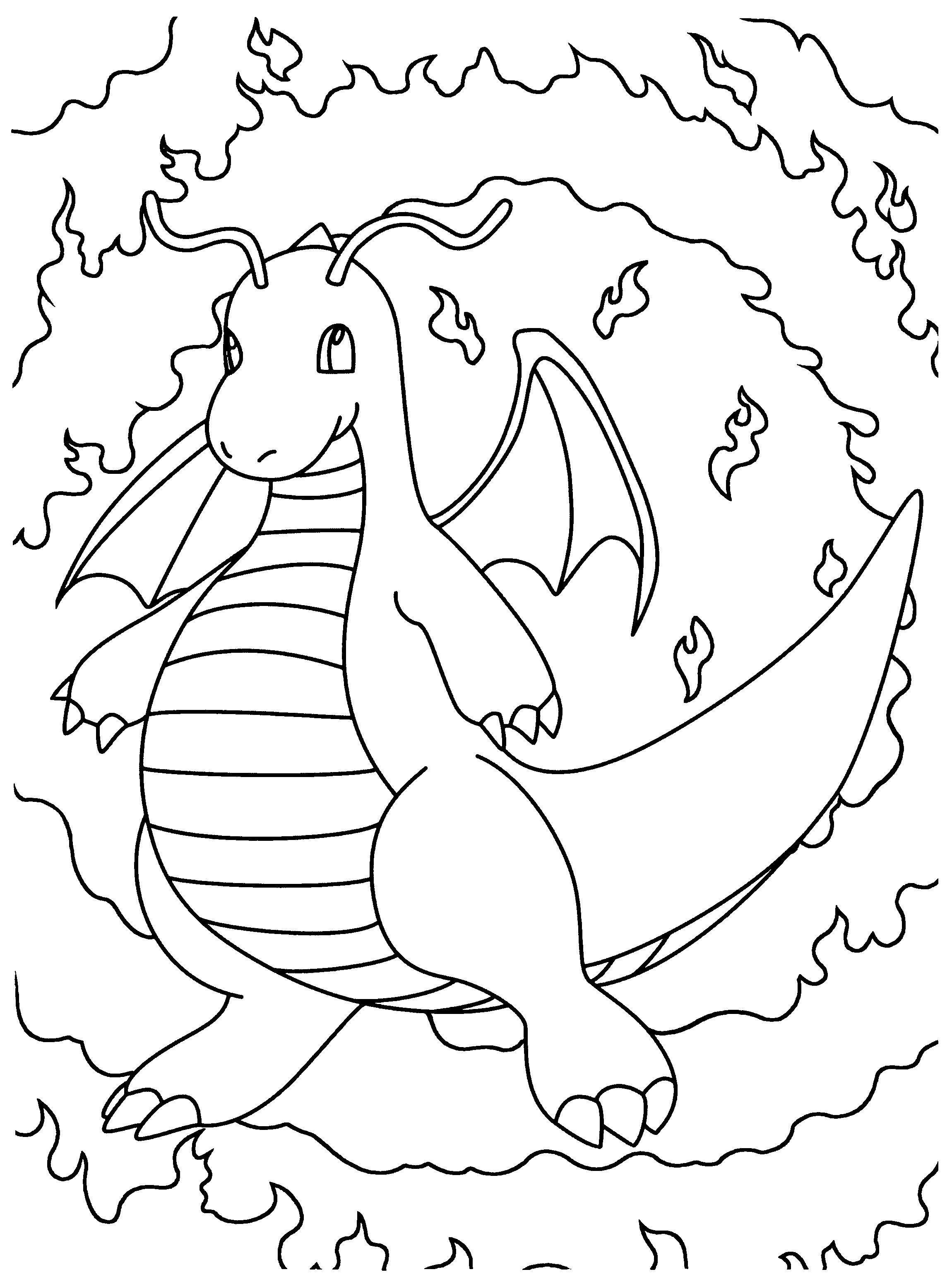 Kleurplaat Dragonite Kleurplaten Kleurboek Pokemon