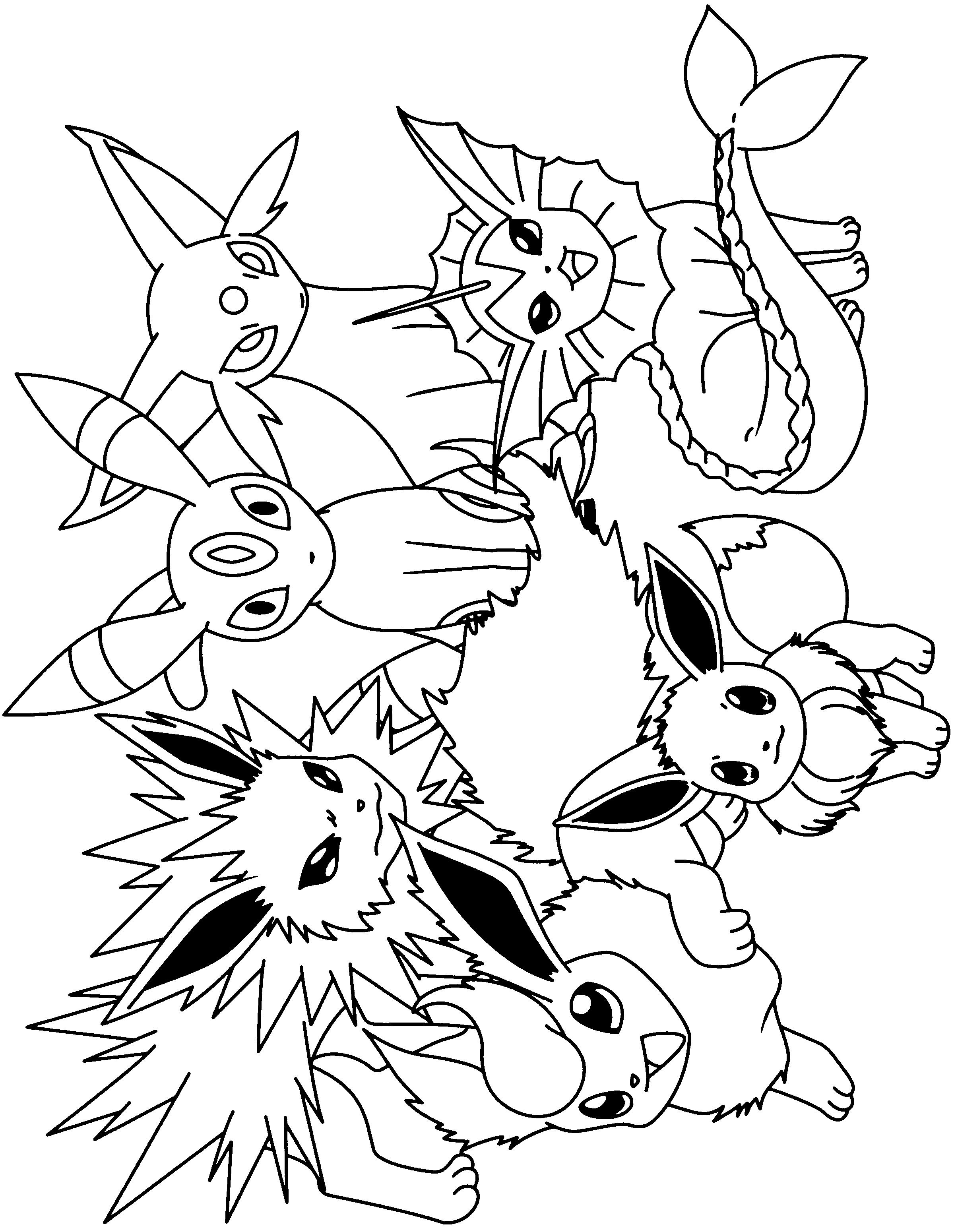 Kleurplaat Eevee Kleurplaten Pokemon Pokemon Afbeeldingen