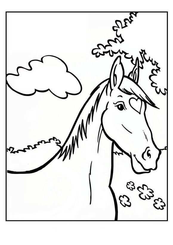 Kids N Fun Kleurplaten Per Beginletter Kleurplaten Paarden Thema