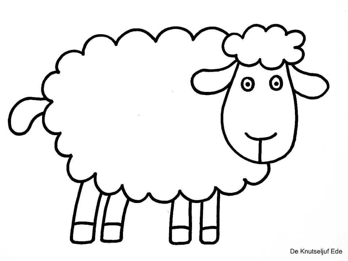 Coloring Sheep Spring Tinkering Creative Coloringpages Coloringpage De Knutseljuf Ede Sheep Art Sheep Sheep And Lamb