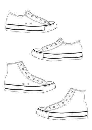 Coloring Page Shoes Img 26360 Shoe Template Coloring Pages Shoe Art