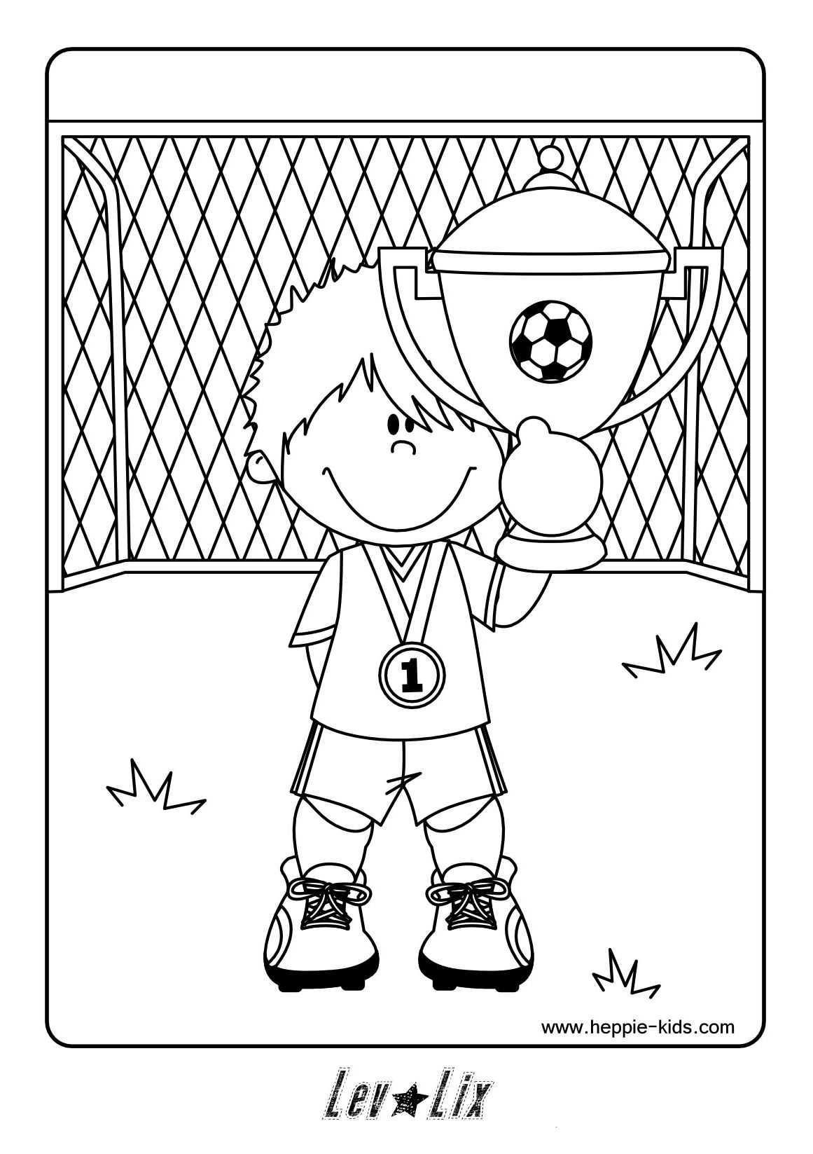 Kleurplaat Voetbal Voetbal Knutselen Voetbal Voetbal Feestje