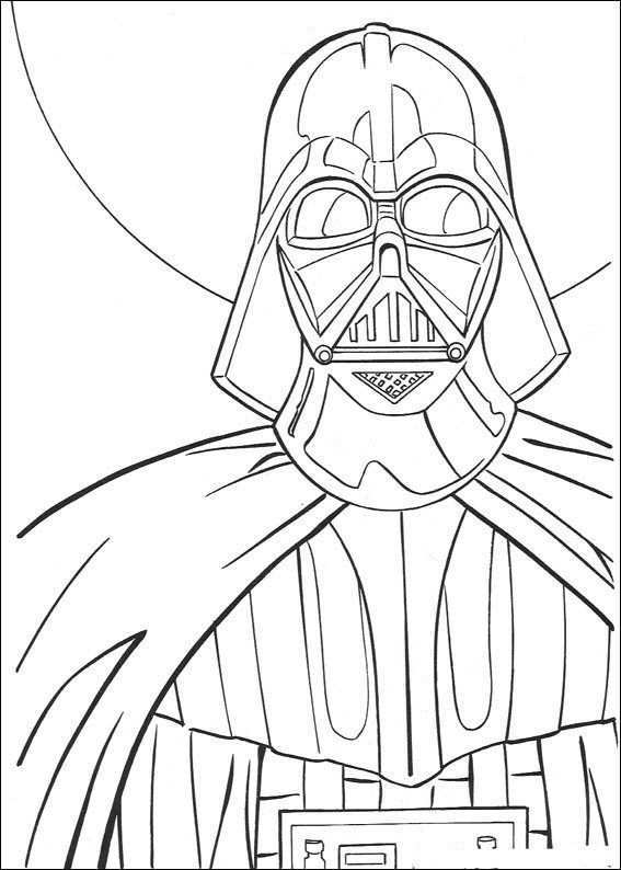 Kids N Fun Kleurplaat Star Wars Darth Vader Kleurplaten Kleurboek Boekenleggers