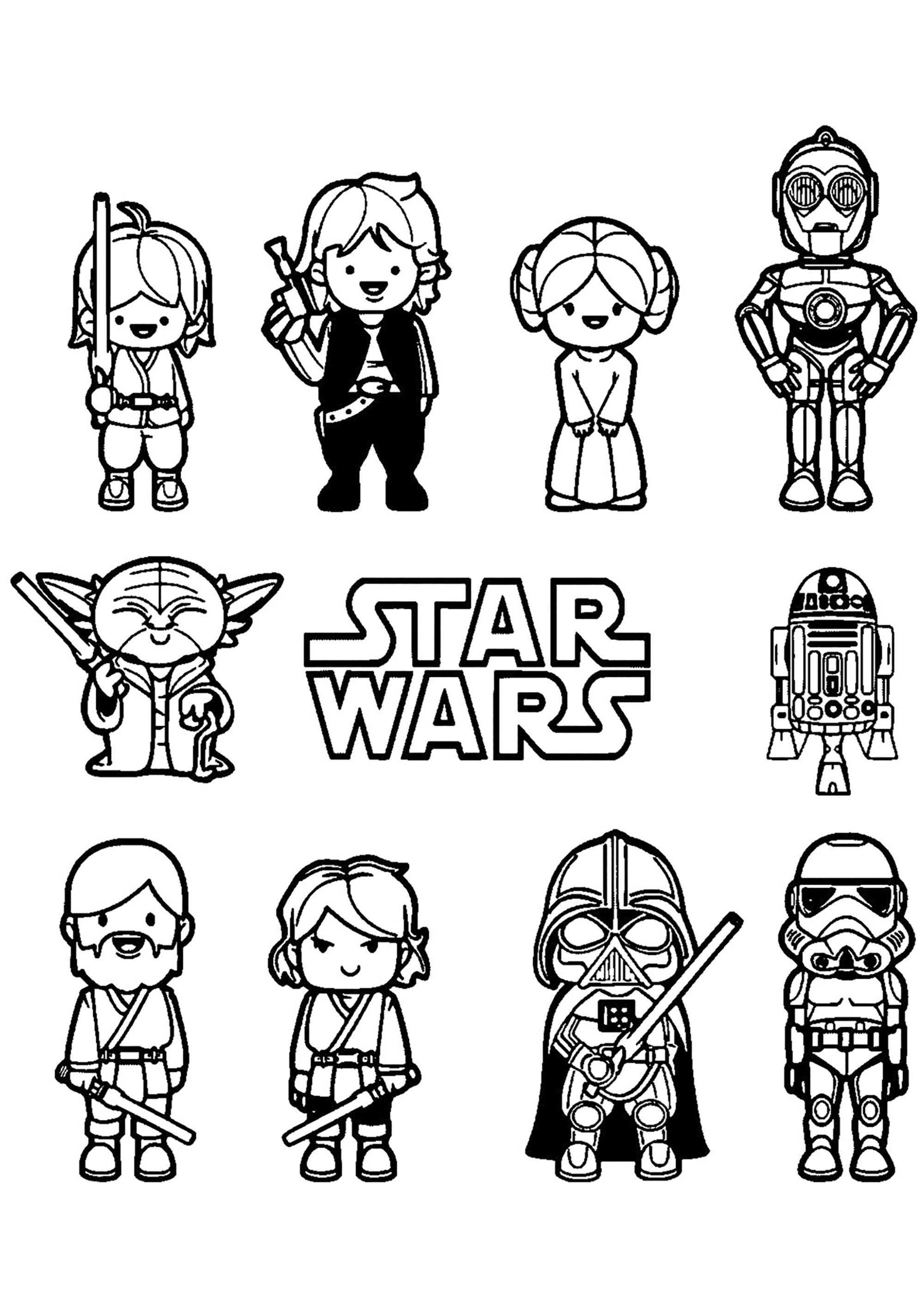 16 Coloring Page Star Wars Star Wars Coloring Sheet Star Wars Cartoon Star Wars Coloring Book