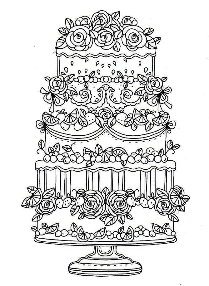 Kleurplaat Taart Coloring Pages Food Coloring Pages Coloring Books