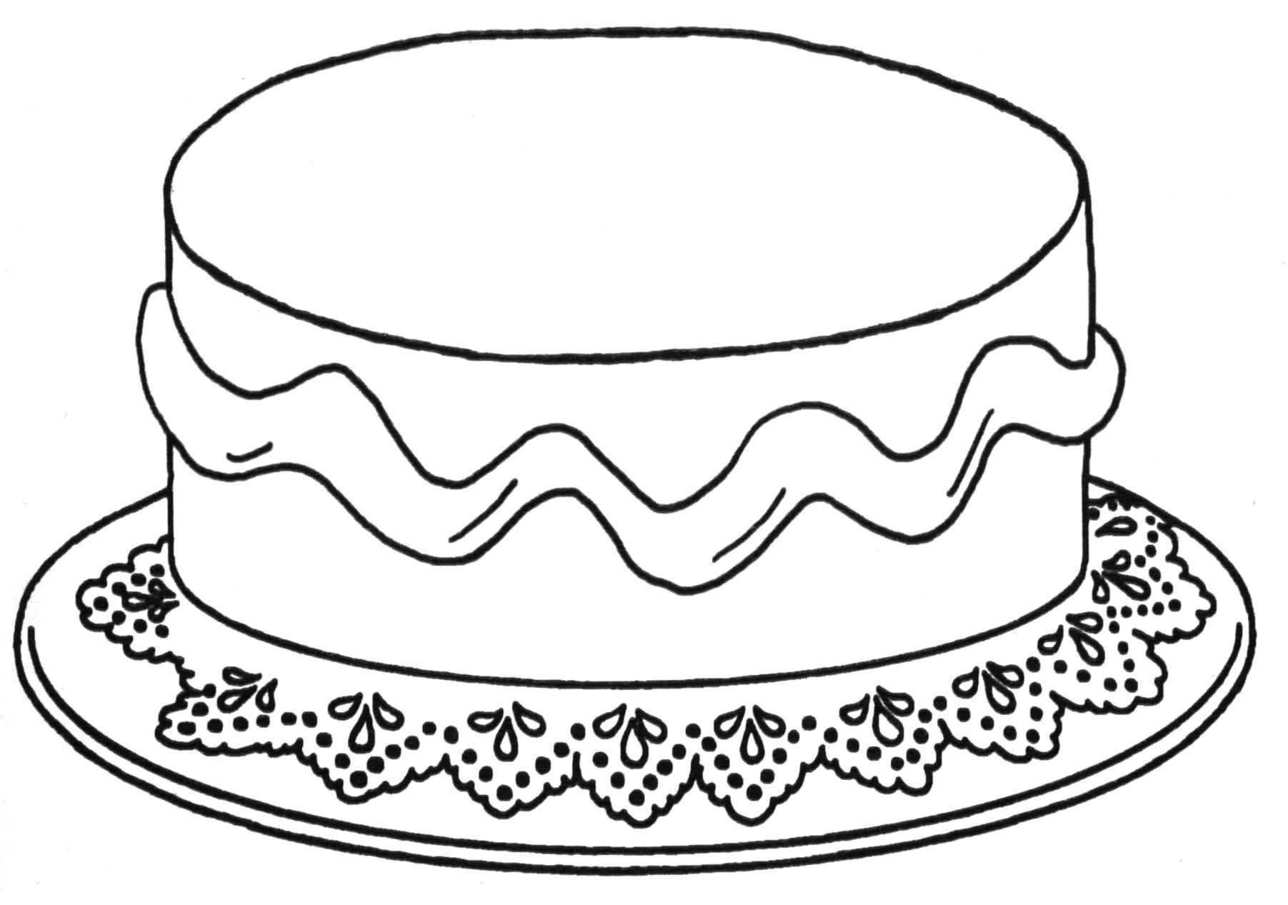 Kleurplaat Taart Jpg 1803 1267 Verjaardag Knutselen Voor Opa Verjaardagskalender Knutselen
