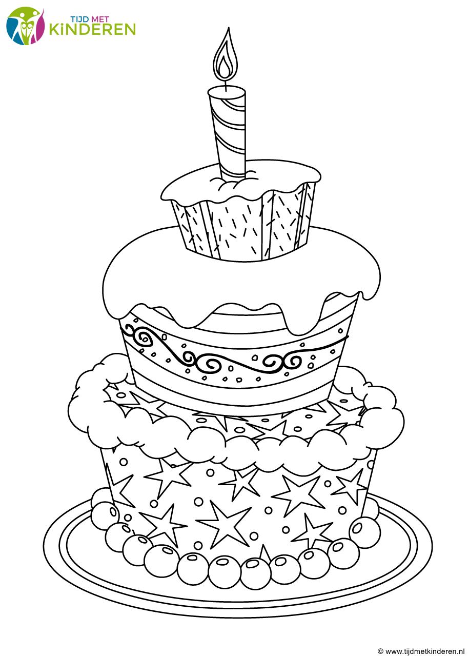Afbeeldingsresultaat Voor Taart Kleurplaat Met 5 6 Kaarsen Kind Knutselen Kleurplaten Verjaardag Kaarten