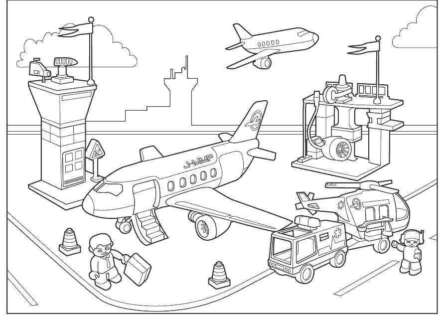 Vliegveld Luchtvaart Thema Vliegtuig Knutselen Thema