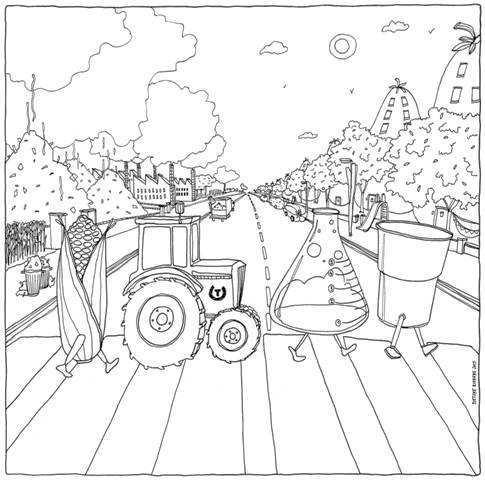 Gebouw T Lanceert Biobased Kleurplaat Voor Volwassenen Bergen Op Zoom In Beeld