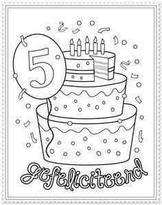 Kleurplaat 5 Jaar Google Zoeken Verjaardag Verjaardagsideeen Verjaardagskalender