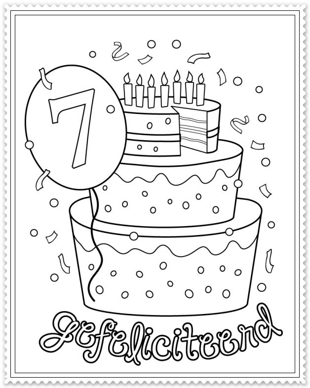Hoera 7 Jaar Verjaardagskalender Verjaardag Verjaardagsideeen
