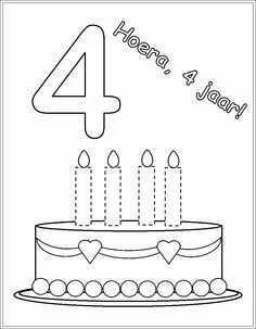 Hoera 4 Jaar Verjaardagsideeen Verjaardagskalender Verjaardag