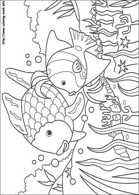 Kleurplaat Mooiste Vis Van De Zee Fish Coloring Page Rainbow Fish Coloring Page Coloring Books
