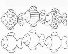 Voorbeelden Natekenen Schrijfmotoriek Vis Thema Vis Sjabloon