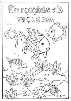 Kleurplaat De Mooiste Vis Van De Zee 2 Kleurplaten Vis En The Rainbow Fish