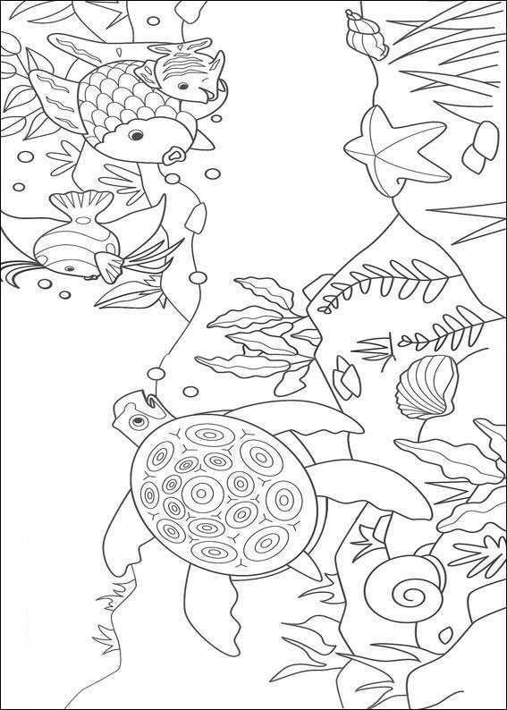 Pin Van Dilekkanlibasdemir Op Kern 1 Vll The Rainbow Fish Kleurboek Vis