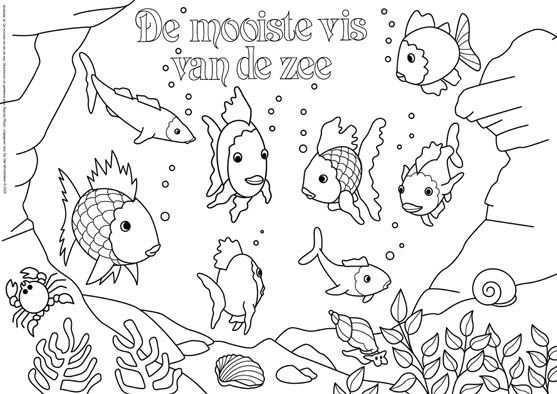 De Vier Windstreken The Rainbow Fish Gratis Kleurplaten Kleurplaten Voor Volwassenen