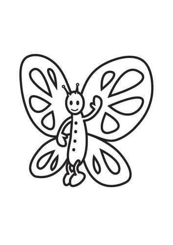 Kleurplaat Vlinder Afb 18028 Gratis Kleurplaten Kleurplaten Vlinders
