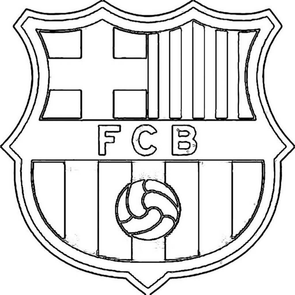 Kleurplaten Voetbal Fc Barcelona
