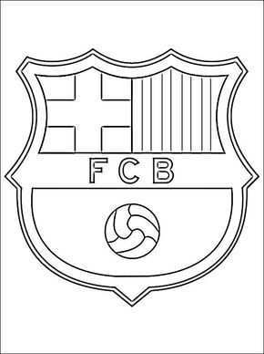 Soccer Coloring Pages Coloring Page With Logo Of Barcelona Football Club Free Printable Barcelona Voetbal Voetbalfeest Logo S
