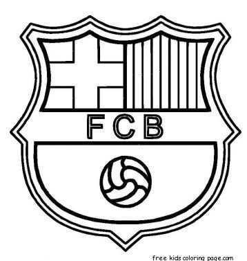 Barcelona Logo Soccer Coloring Pages Kleurplaten Logo S Voetbal