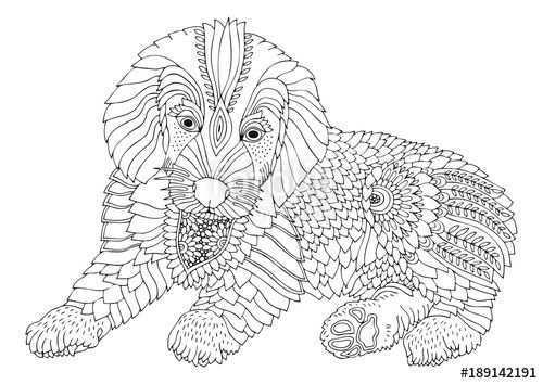 Pin Van Barbara Op Coloring Dog Mandala Kleurplaten Mandala Kleurplaten