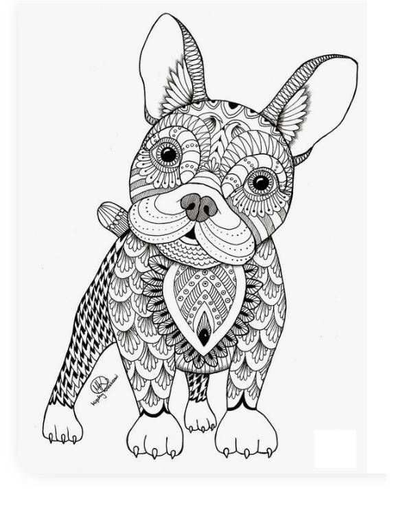 Mindfulness Hond Kleurplaat Boek Bladzijden Kleuren Mandala Kleurplaten Kleurplaten