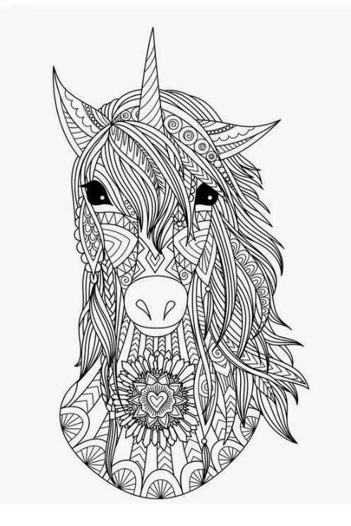 Mindfulness Paard Kleurplaat Mandala Kleurplaten Handen Tekenen Kleurplaten