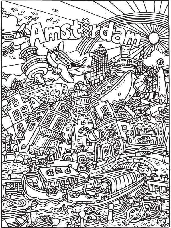 Kleurplaat Kleurplaat Voor Volwassenen Amsterdam Kleurplaten Nl Leukmetkids Amsterdam Abstracte Kleurplaten Kleurplaten Voor Volwassenen Kleurplaten