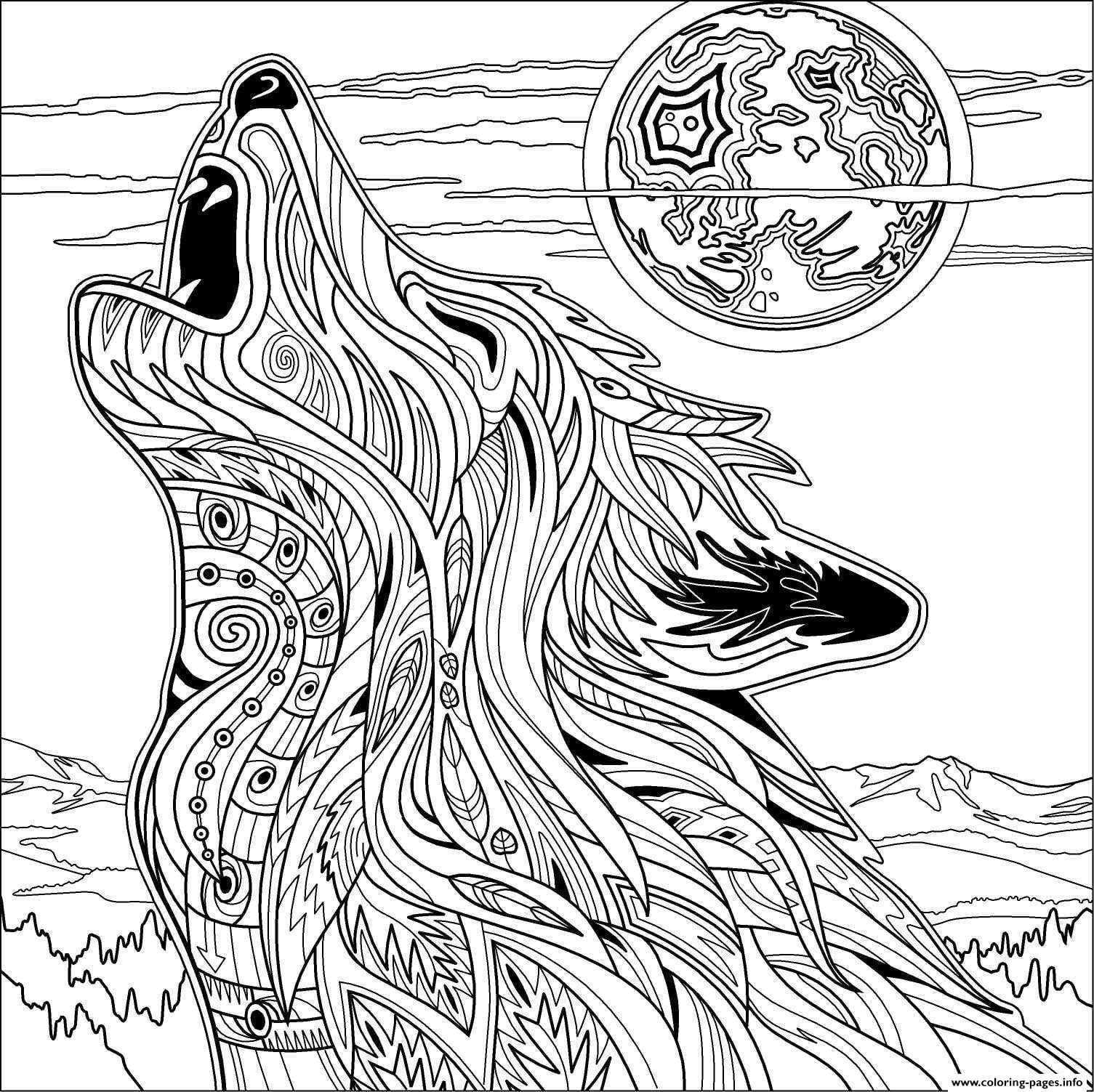 Wolf Coloring Book Kostenlose Erwachsenen Malvorlagen Malvorlagen Pferde Ausmalbilder