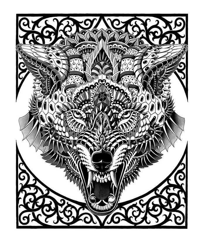 Bioworkz Wolf Colors Animal Coloring Pages Animal Art