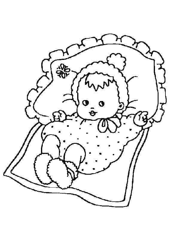 Kleurplaat Kleurplaat Van Een Baby Die In Een Bedje Ligt 4480 Kleurplaten Kleurboek Babies
