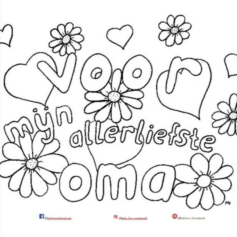 Kleurplaat Voor Oma In 2021 Kleurplaten Kinderactiviteiten Kleine Kinderen