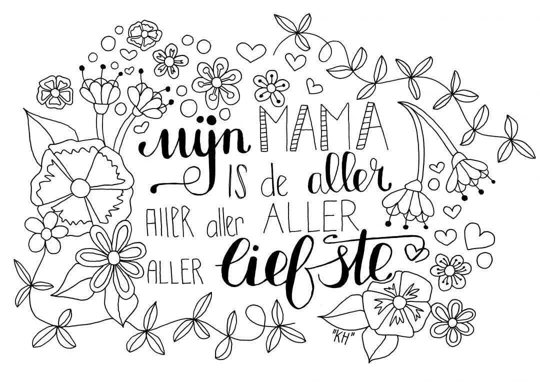 Kleurplaat Miks Voor Mama Verjaardag Mama Ouderdag Vaderdag