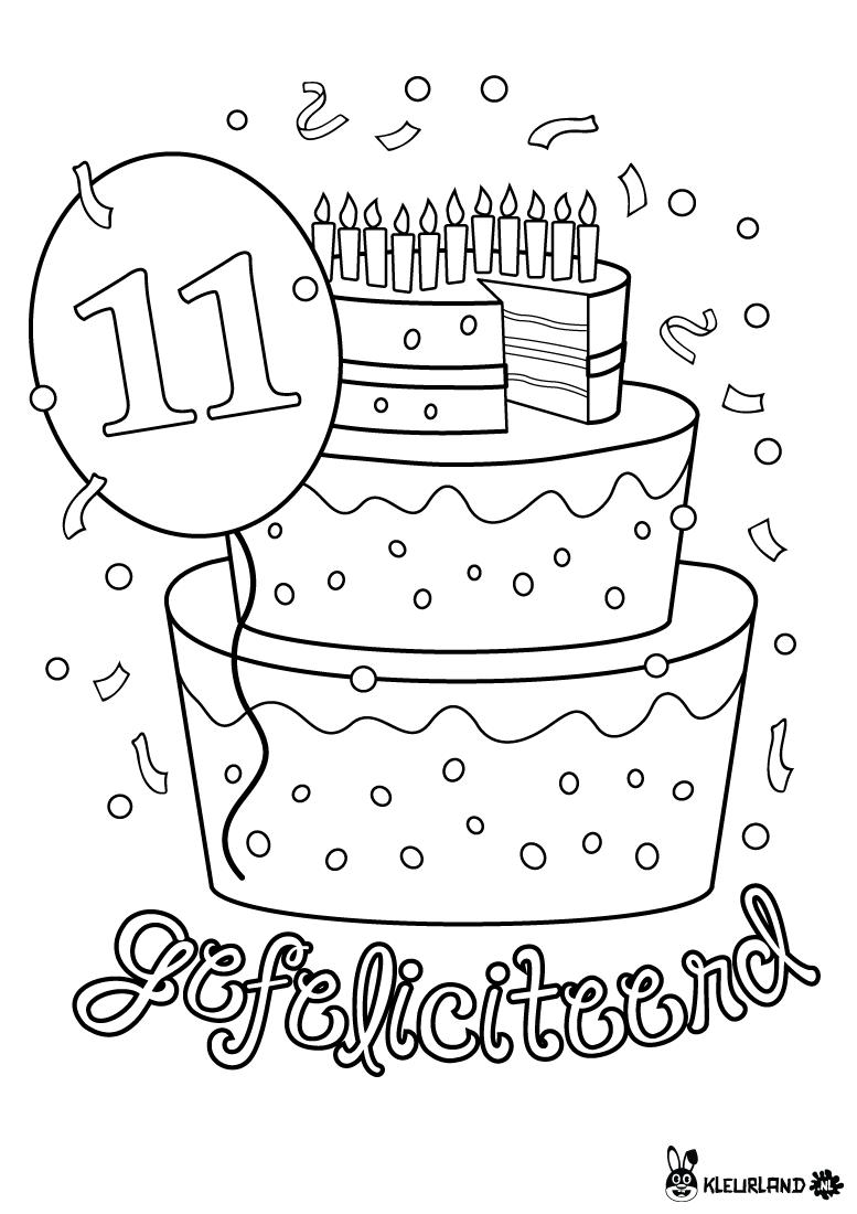 Verjaardagstaart 11 Jaar Verjaardag Verjaardagsideeen Verjaardagskalender