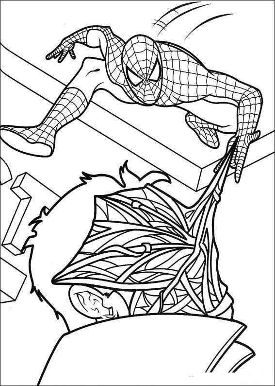 Kleurplaat Spiderman Spiderman Gooit Web In 2020 Kleurplaten Kleurboek Spiderman