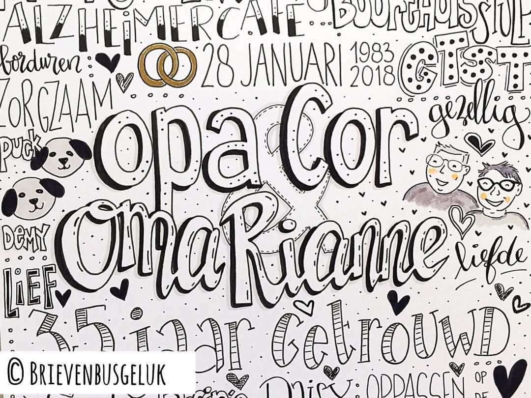 Opa Cor Oma Rianne Lettering Hand Lettering Novelty Sign