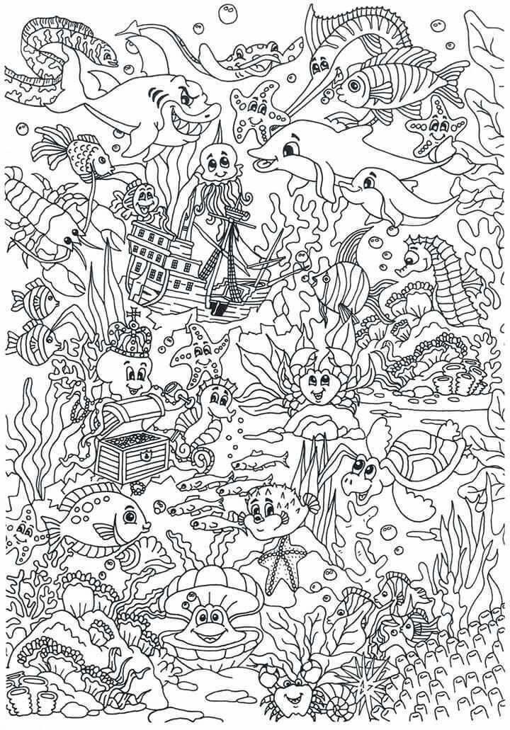 Onderwaterwereld Gratis Kleurplaten Kleurplaten Kleurboek