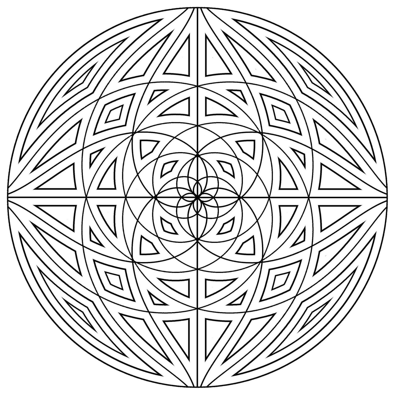 Mandala Concentric Lines Mandalas Coloring Pages For Adults Just Color Page 5 Mandala Kleurplaten