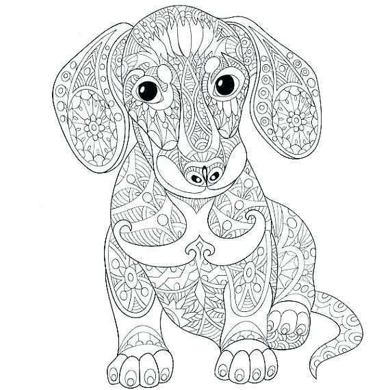 Colouring Pages Mandala Animals Animal Coloring Pages Online Animal Coloring Pages For Adults Sweet Lo Dog Coloring Page Animal Coloring Pages Dachshund Colors